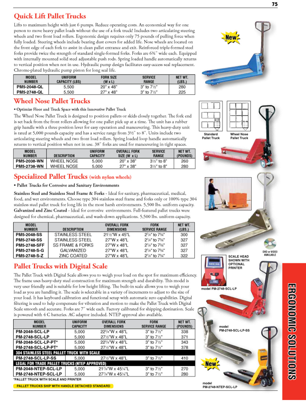 Ergonomic Solutions Catalog Page
