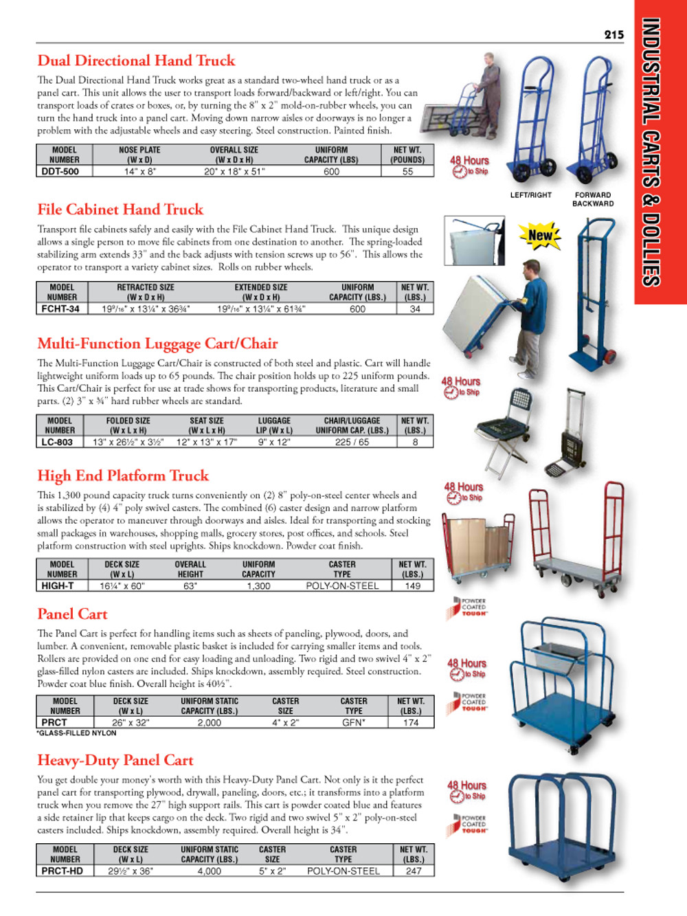 Industrial Carts and Dollies Catalog Page