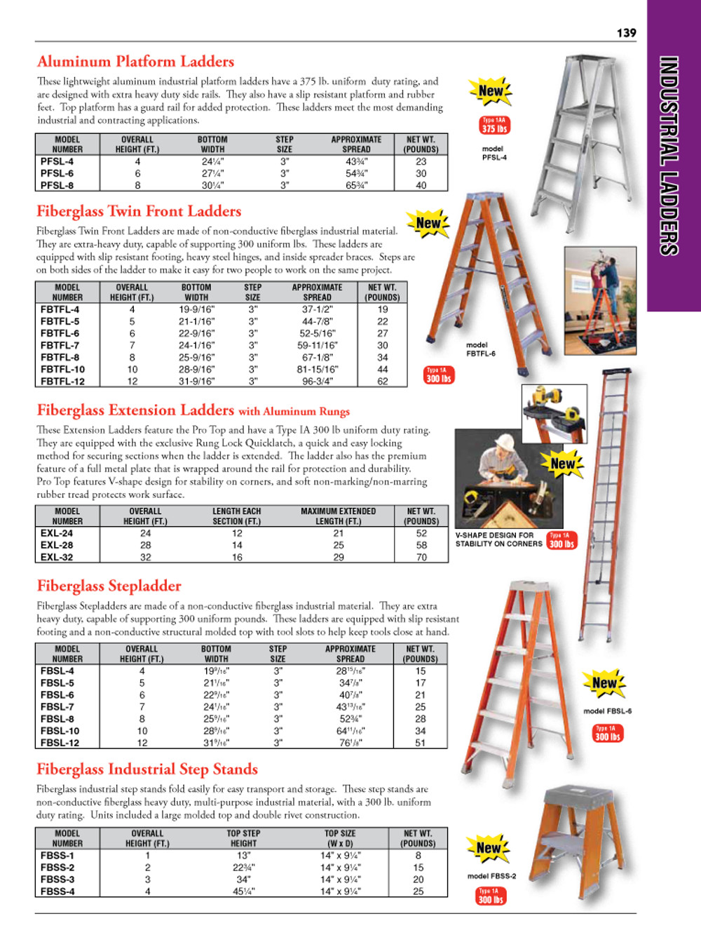 Industrial Ladders Catalog Page