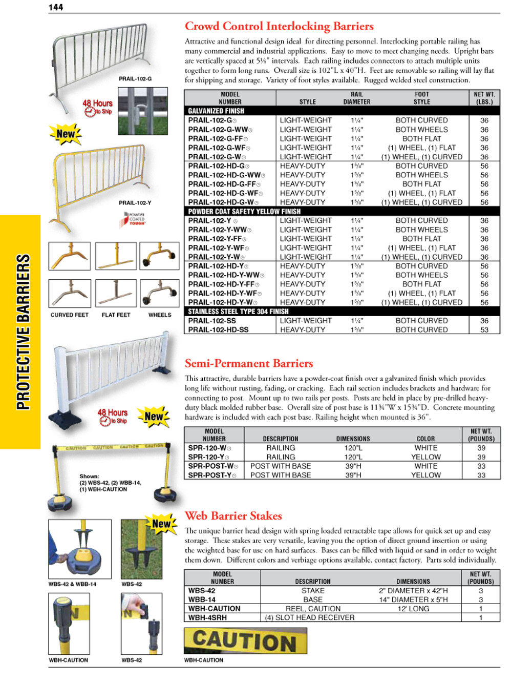 Protective Barriers Catalog Page