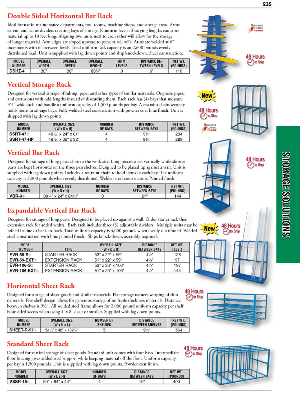Storage Solutions Catalog Page