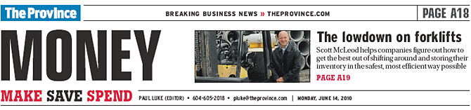 Vancouver Province Article - Fleetman Consulting Inc.