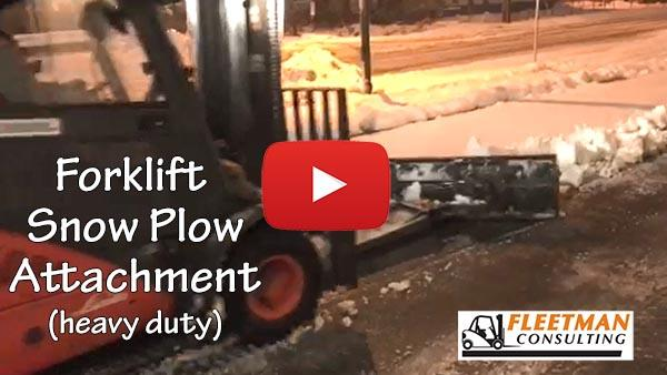 Forklift Snow Plow Video