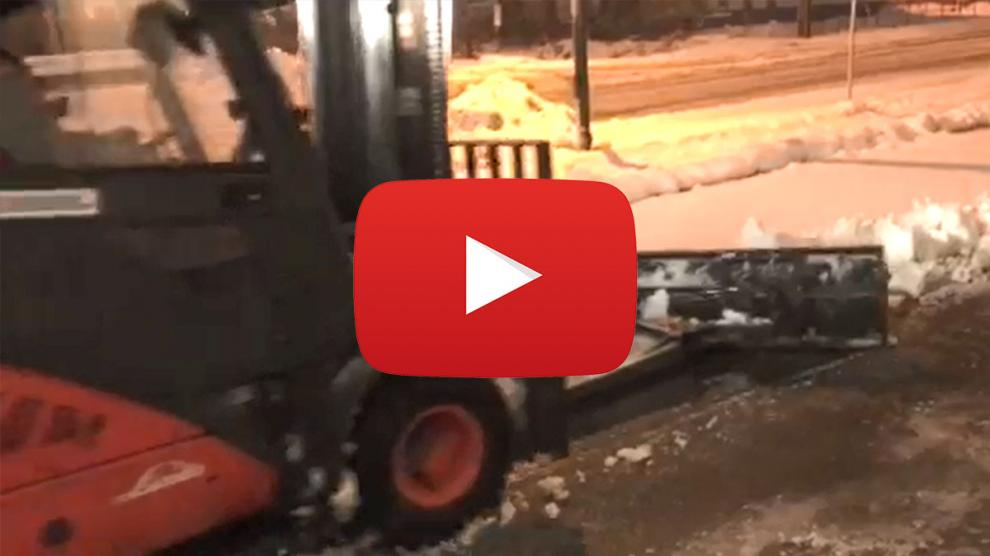 Heavy Duty Forklift Snow Plow Video
