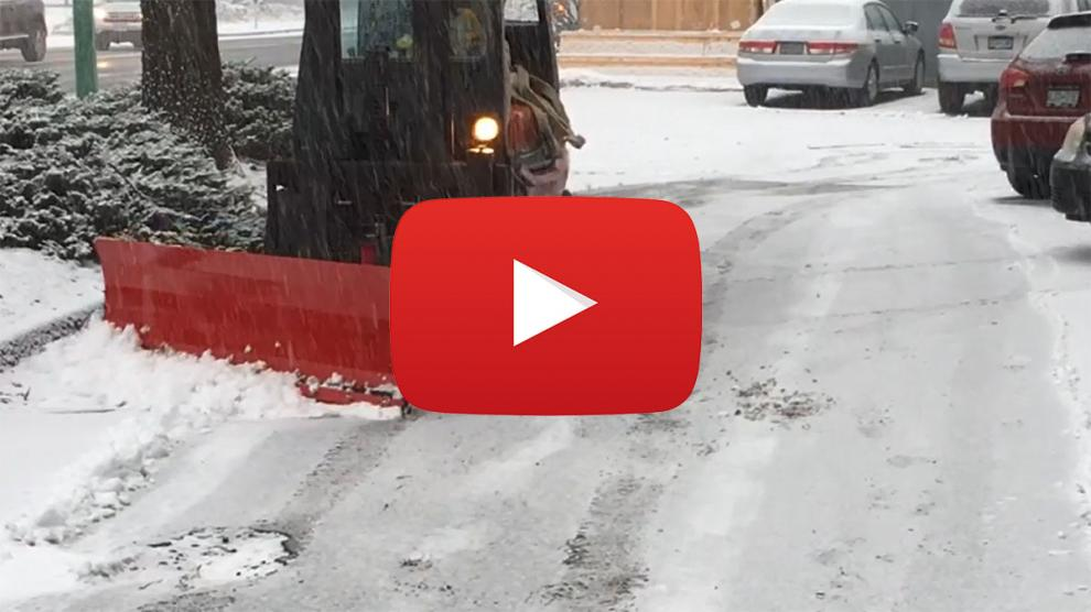 Moderate Duty Forklift Snow Plow Video